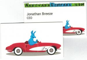 AardvarkCompare Business Card - Never Lose Luggage