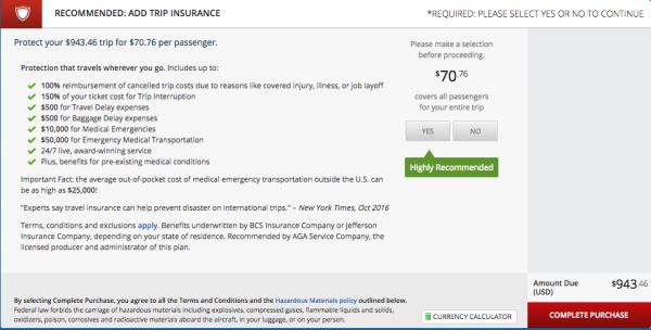 Delta Travel Insurance - $71 | AardvarkCompare.com