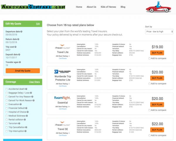 Delta Travel Insurance - Aardvark Options | AardvarkCompare.com