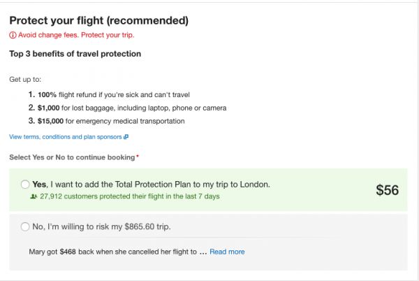 Expedia Travel Insurance - SFO - LHR $56 | AARDY.com