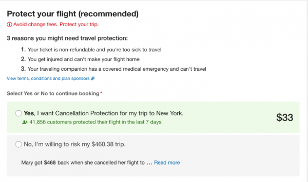 Expedia Travel Insurance - SFO - NYC $33 | AARDY.com