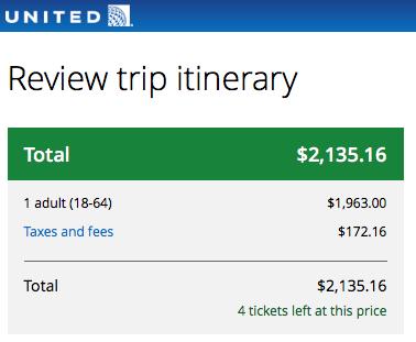 United NYC - LIS - $2100