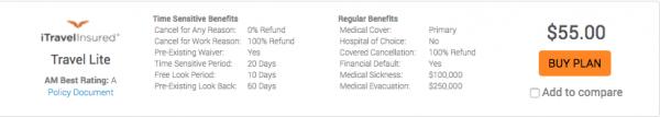 Alaska Airlines Travel Insurance - iTI Lite | AARDY.com