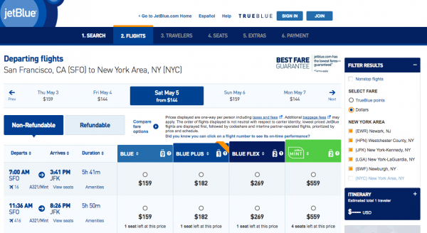JetBlue Travel Insurance - Non Refundable | AARDY.com