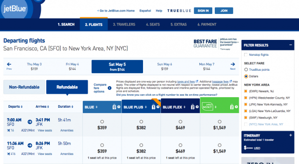 JetBlue Travel Insurance - Refundable | AARDY.com