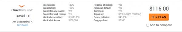 Air India Travel Insurance iTI LX $116 | AardvarkCompare.com