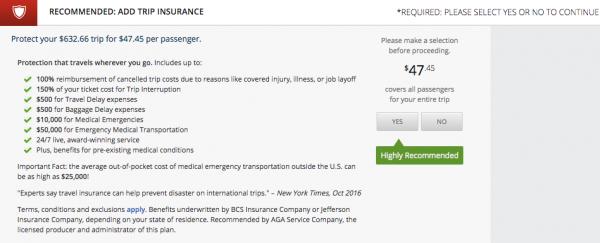 Delta $47 Flight Insurance