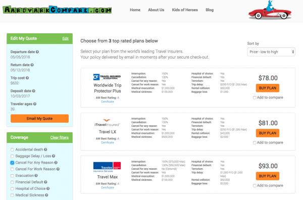 Delta Aardvark CFAR Flight Insurance