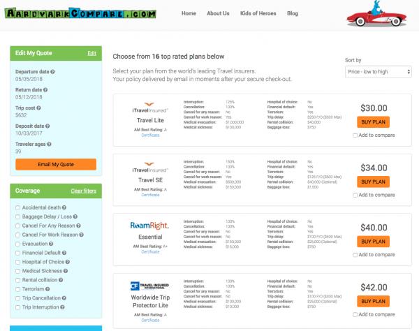 Delta Aardvark Flight Insurance Options