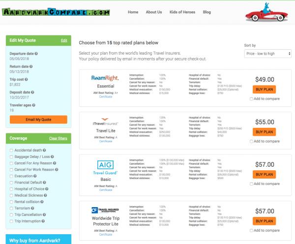 JAL Travel Insurance - AARDY Options | AARDY.com