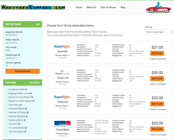 Korean Air Flight Insurance - Aardvark Options | AardvarkCompare.com