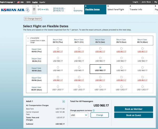 Korean Air Flight Insurance - Flight Grid | AARDY.com