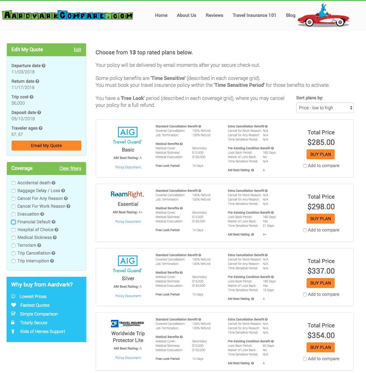 American-Express-Travel-Insurance-AardvarkCompare-Options | AARDY.com