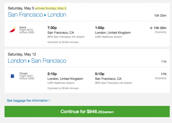 Priceline Travel Insurance - SFO - LHR $946 | AARDY.com