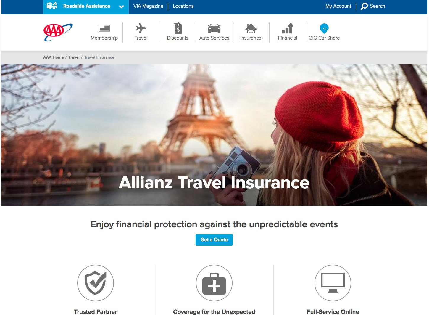 AARP Travel Insurance - AAA Comparison | AARDY.com