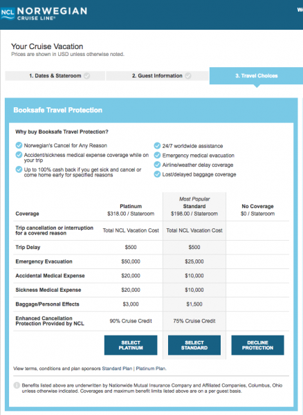 Norwegian Cruise Travel Insurance - $198 or $318 | AardvarkCompare.com