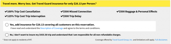 Spirit Travel Insurance - $26 Domestic Travel Guard Option | AARDY.com