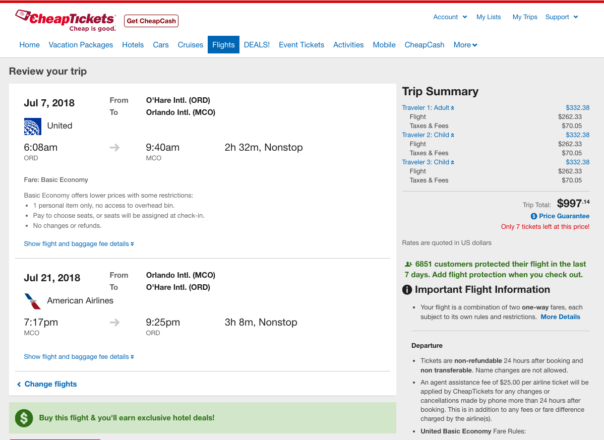 CheapTickets-Travel-Insurance-Flights-Only-997 | AARDY.com