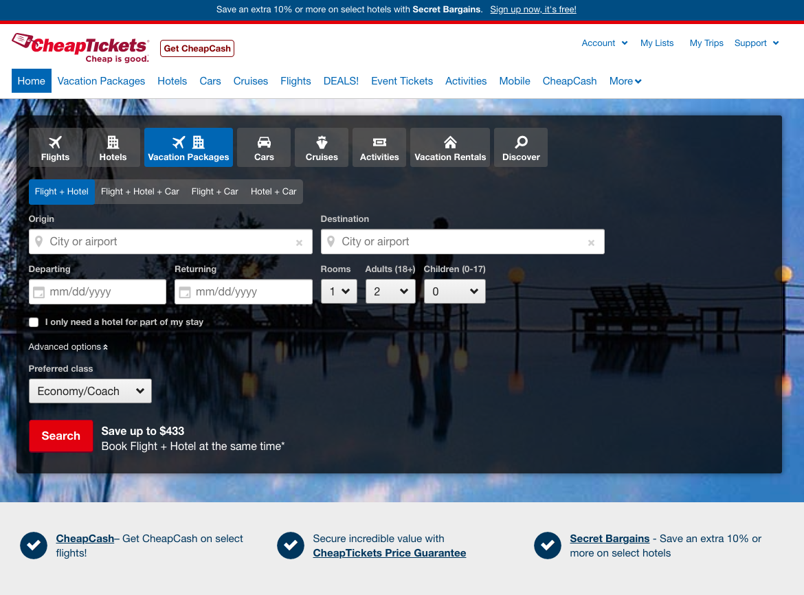 CheapTickets-Travel-Insurance-Front-Page | AARDY.com