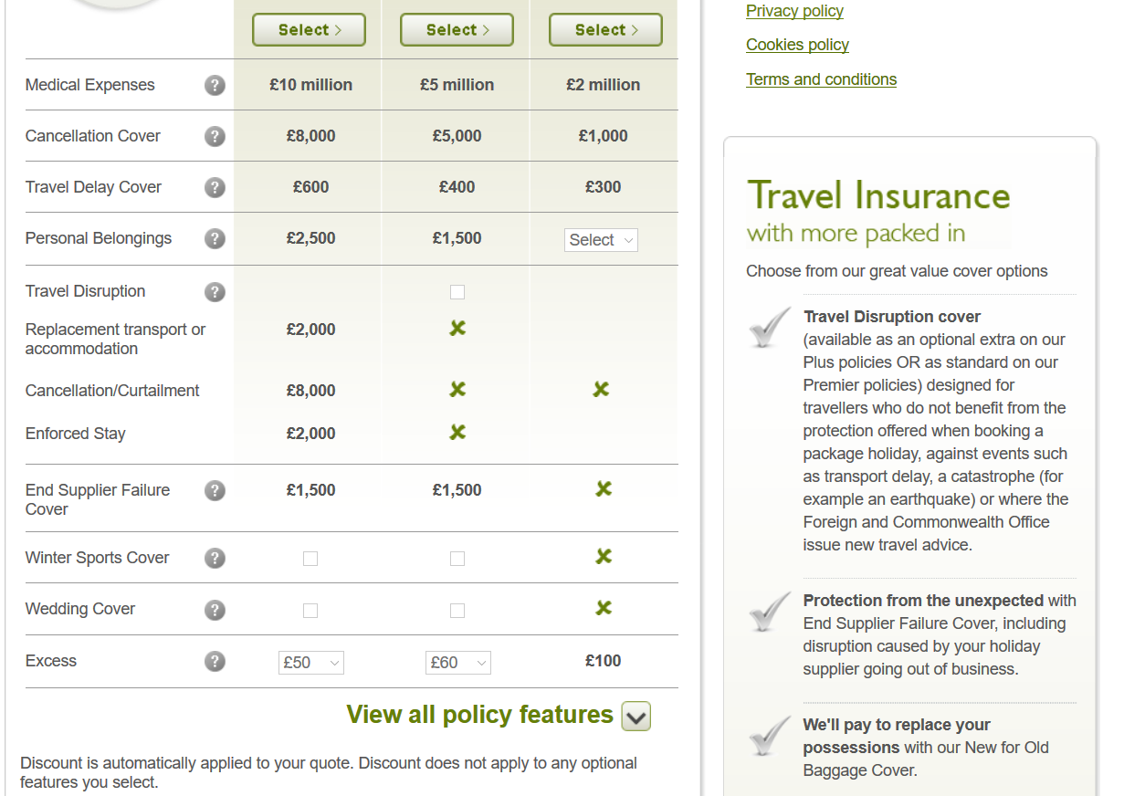 John-Lewis-Travel-Insurance Limited Comparison | AardvarkCompare.com