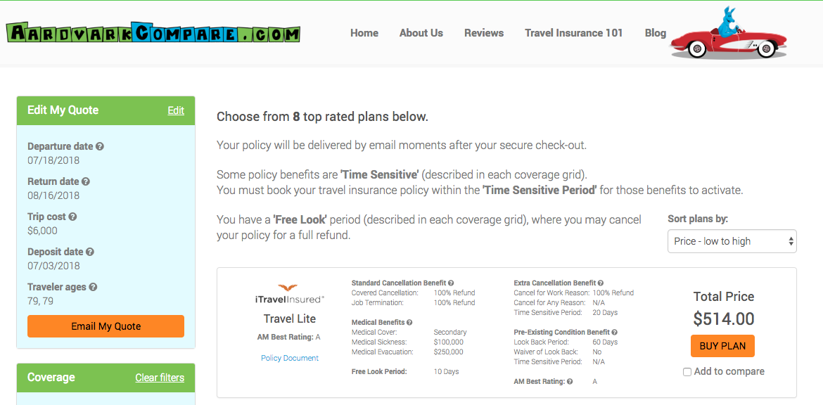 Cost-of-Travel-Insurance-Ages-of-Travelers-79 | AardvarkCompare.com