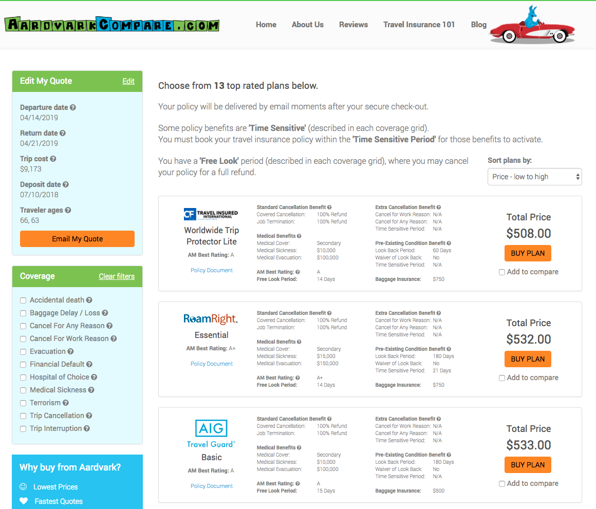 Cunard-Cruise-Line-Travel-Insurance-Aardvark-Options | AARDY.com