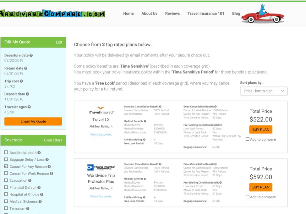 Avalon-Waterways-Travel-Insurance-AardvarkCompare-Options | AARDY.com