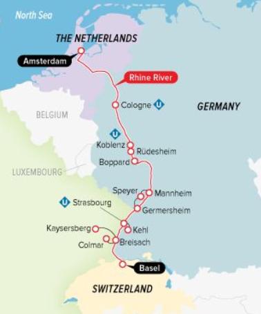 UniWolrd-River-Cruise-Map | AARDY.com