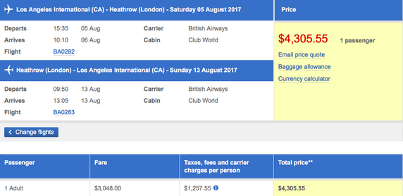 Why Are First Class Airline Tickets So Expensive? - $4,300 | AardvarkCompare.com