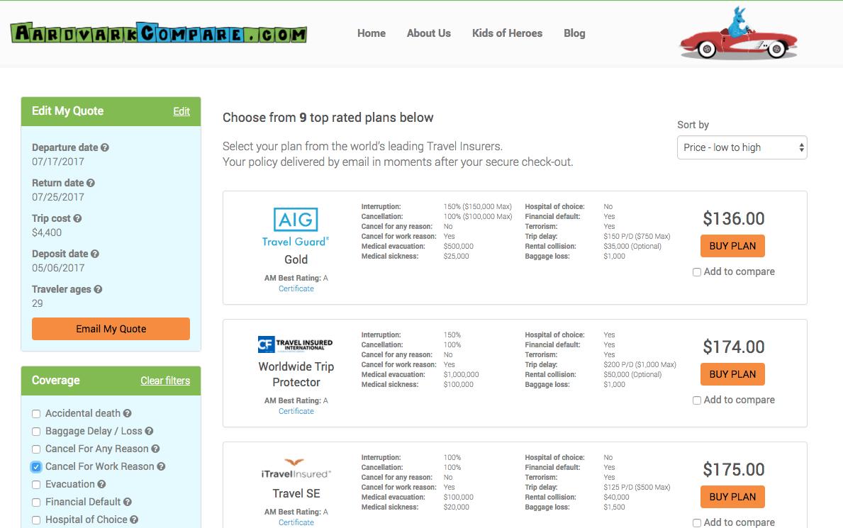 Expedia Better Option CFWR AardvarkCompare