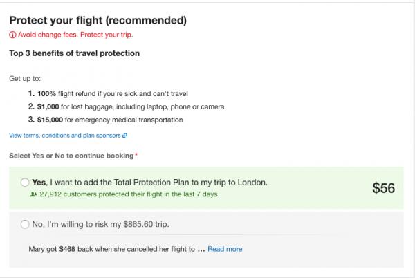 Expedia Travel Insurance - SFO - LHR $56 | AardvarkCompare.com