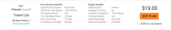 Expedia Travel Insurance - SFO - NYC - iTI Lite $19 | AardvarkCompare.com