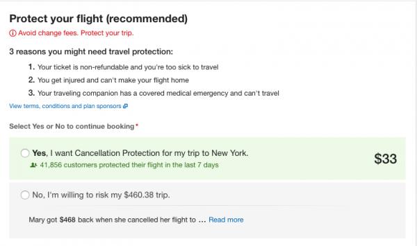 Expedia Travel Insurance - SFO - NYC $33 | AardvarkCompare.com