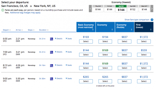 United Airlines Travel Insurance - First is Cheaper than Economy | AardvarkCompare.com