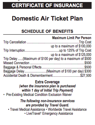 United Airlines Travel Insurance - Domestic Air Ticket Plan | AardvarkCompare.com