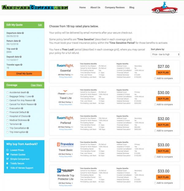 American Airlines Travel Insurance - Aardvark Options | AardvarkCompare.com