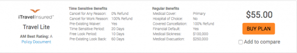 Alaska Airlines Travel Insurance - iTI Lite | AardvarkCompare.com