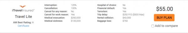 Swiss Airlines Travel Insurance - iTI Lite   AardvarkCompare.com