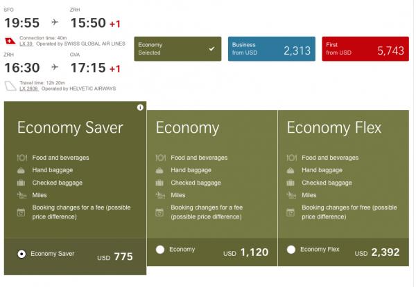 Swiss Airlines Travel Insurance - Fare Rules   AardvarkCompare.com