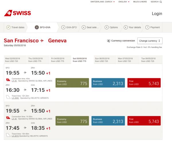 Swiss Airlines Travel Insurance - Flight Grid   AardvarkCompare.com
