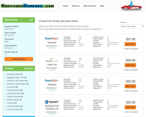 Cathay Pacific Travel Insurance - Aardvark Options | AardvarkCompare.com