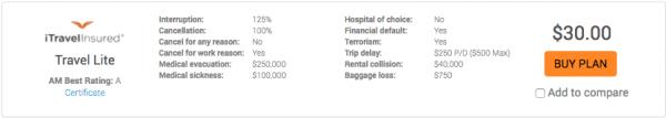 Turkish Airlines Travel Insurance - iTI Lite   AardvarkCompare.com