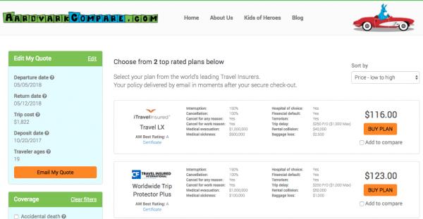 JAL Travel Insurance - Cancel for Any Reason | AardvarkCompare.com
