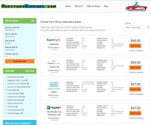 Best Travel Insurance Deals - One Site – Multiple Carriers   AardvarkCompare.com