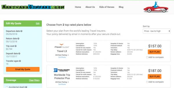 Qatar Airways Travel Insurance Cancel for Any Reason | AardvarkCompare.com