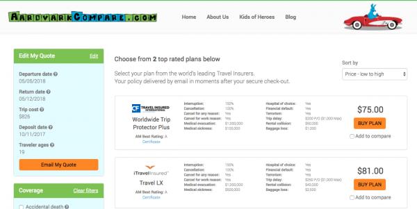 AeroMexico Travel Insurance Cancel for Any Reason | AardvarkCompare.com