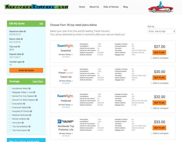 AeroMexico Travel Insurance Low Cost Options | AardvarkCompare.com