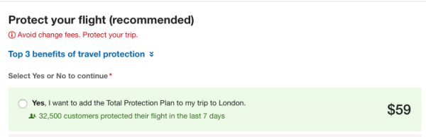Expedia Flight Insurance $59   AardvarkCompare.com