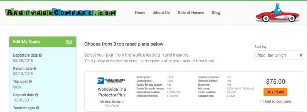 American Flight Insurance Aardvark Cancel For Any Reason | AardvarkCompare.com