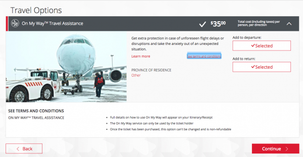 Air Canada Travel Assistance is NOT Travel Insurance